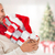 composite image of happy festive man with gifts stock photo © wavebreak_media