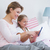 mother and daughter using tablet pc stock photo © wavebreak_media