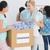 mensen · kleding · schenking · groep · jongeren · kantoor - stockfoto © wavebreak_media
