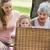 nagymama · felnőtt · lánygyermek · unoka · piknik · nő - stock fotó © wavebreak_media