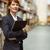portrait of pretty manager holding folder stock photo © wavebreak_media