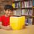 portret · jongen · lezing · boek · bibliotheek · cute - stockfoto © wavebreak_media