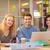 ernstig · jonge · business · collega's · laptop - stockfoto © wavebreak_media
