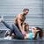 muscular couple doing abdominal exercises stock photo © wavebreak_media