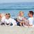 mutlu · aile · oturma · kum · plaj · gökyüzü · su - stok fotoğraf © wavebreak_media