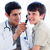 Charming doctor examining little boy's ears stock photo © wavebreak_media