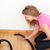portrait of a charming woman vacuuming stock photo © wavebreak_media