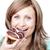 счастливым · женщину · еды · торт · белый · продовольствие - Сток-фото © wavebreak_media