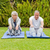 senior · vrouw · yoga · benen · park - stockfoto © wavebreak_media