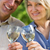 カップル · ワイングラス · レストラン · 女性 · 幸せ - ストックフォト © wavebreak_media