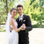 newly wed couple dancing in garden stock photo © wavebreak_media