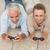 smiling couple lying on rug playing video games stock photo © wavebreak_media