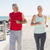fit mature couple jogging on the pier stock photo © wavebreak_media