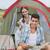 portré · mosolyog · pár · sátor · táborhely · nő - stock fotó © wavebreak_media