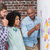 Team looking at sticky notes on wall stock photo © wavebreak_media