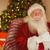 улыбаясь · Дед · Мороз · расслабляющая · кресло · домой · гостиной - Сток-фото © wavebreak_media