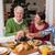 Noel · akşam · yemeği · zaman · yemek · masası · plakalar - stok fotoğraf © wavebreak_media