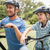 happy father on a bike with his son stock photo © wavebreak_media