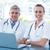 gülen · tıbbi · çalışma · bilgisayar · gülümseme - stok fotoğraf © wavebreak_media