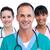 retrato · doctor · de · sexo · masculino · médicos · equipo · blanco · trabajo - foto stock © wavebreak_media
