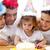 bambina · compleanno · genitori · home · famiglia - foto d'archivio © wavebreak_media