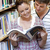 twee · studenten · genieten · lezing · boek · samen - stockfoto © wavebreak_media