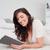 小さな · かわいい · 女性 · 読む · 図書 · カーペット - ストックフォト © wavebreak_media