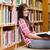 grave · estudiante · jóvenes · femenino · lectura · notas - foto stock © wavebreak_media