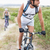 fit attractive couple cycling on mountain trail stock photo © wavebreak_media