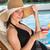 relajante · sol · mujer · alimentos - foto stock © wavebreak_media
