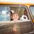 cute · sonriendo · cámara · autobús · escolar · fuera - foto stock © wavebreak_media