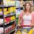 bastante · sorridente · mulher · loira · compra · limonada · supermercado - foto stock © wavebreak_media