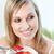wesoły · kobieta · jedzenie · musli · owoce · posiedzenia - zdjęcia stock © wavebreak_media
