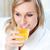 portret · jonge · vrouw · sinaasappelsap · home · voedsel - stockfoto © wavebreak_media