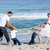 animado · família · jogar · guerra · praia · menina - foto stock © wavebreak_media