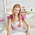 Portrait of a beautiful woman baking in the kitchen smiling at the camera stock photo © wavebreak_media