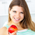 женщину · яблоко · ярко · улыбка · продовольствие - Сток-фото © wavebreak_media