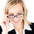 zakenvrouw · bril · witte · achtergrond · ruimte - stockfoto © wavebreak_media