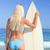 kadın · sörf · bikini · okyanus · genç · kişi - stok fotoğraf © wavebreak_media