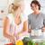 cottura · cucina · donna · sorriso · uomo - foto d'archivio © wavebreak_media