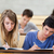 Öğrenciler · amfitiyatro · mutlu · kalem · yazı - stok fotoğraf © wavebreak_media
