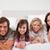 boldog · család · ágy · együtt · arc · szeretet · boldog - stock fotó © wavebreak_media