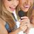 twee · gelukkig · jonge · studenten · meisjes - stockfoto © wavebreak_media