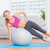 cheerful fit blonde doing side plank with exercise ball stock photo © wavebreak_media