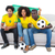 Brazilian football fans in yellow sitting on the sofa stock photo © wavebreak_media