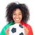 csinos · futball · ventillátor · Portugália · zászló · tart - stock fotó © wavebreak_media