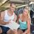 hermosa · ejercicio · gimnasio · escuchar · escuchar · música - foto stock © wavebreak_media