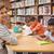 aranyos · iskolás · tanár · olvas · könyvtár · általános · iskola - stock fotó © wavebreak_media