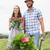 happy young couple gardening together stock photo © wavebreak_media