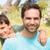 vader · zoon · platteland · man · gelukkig · portret - stockfoto © wavebreak_media